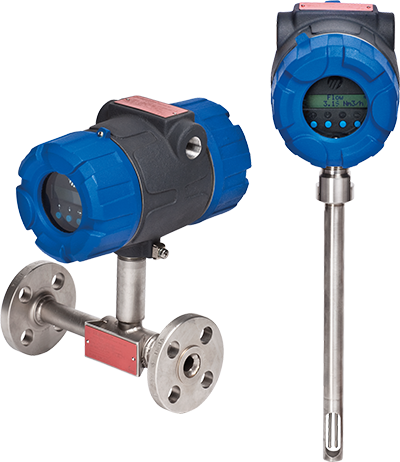 Thermal dispersion mass flow meter