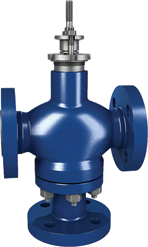 Three-way control valves